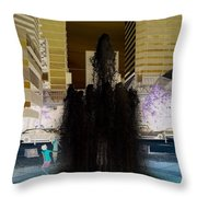 Tom Mccall Waterfront Fountain Throw Pillow