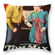 Tom Mix In The Feud 1919 Throw Pillow