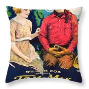 Tom Mix In Treat'em Rough 1919 Throw Pillow