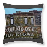 Tom Moore Ten Cent Cigar Throw Pillow