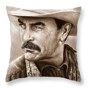 Tom Selleck The Western Collection Throw Pillow