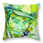 Tom Waits - Watercolor Portrait.5 Throw Pillow