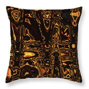 Tomatillo Abstract #2 Throw Pillow
