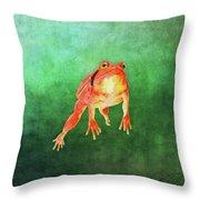 Tomato Frog Throw Pillow