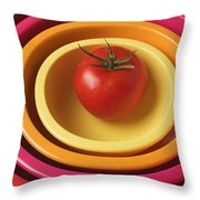 Tomato In Mixing Bowls Throw Pillow