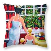 Tomato - Materphobia Throw Pillow