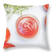 Tomato Sauce Bowl Throw Pillow