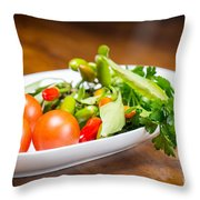 Tomatoes And Hot Peppers With Parsley Fresh From The Garden Throw Pillow