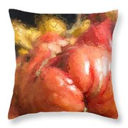 Tomatoes And Squash Throw Pillow