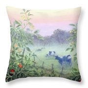Tomatoes In The Mist Throw Pillow