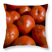 Tomatoes Sit In The Sun Awaiting Buyers Throw Pillow