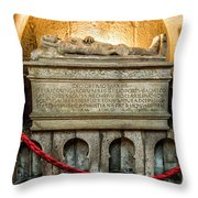 Tomb Of Dom Henrique Throw Pillow