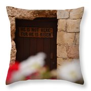 Tomb Of Jesus Throw Pillow