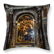 Tomb Of Pope John Paul II In St Peter's Basilica Throw Pillow