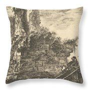 Tomb Of The Three Curiatii Brothers In Albano Throw Pillow