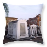 Tombs In St. Louis Cemetery Throw Pillow