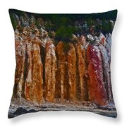 Tombs Land Formation Throw Pillow