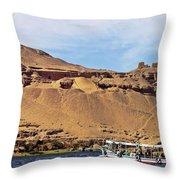 Tombs Of The Nobles Aswan Throw Pillow