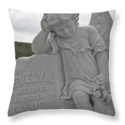Tombstone Angel For An Angel Throw Pillow
