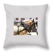 Tombstone Horse Throw Pillow