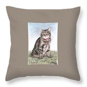 Tomcat Max Throw Pillow