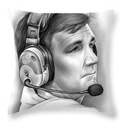 Tommy Bowden Throw Pillow