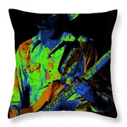 Tommy Caldwell Jamming Throw Pillow