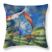 Tom's Pond Throw Pillow