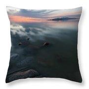 Tonal Sunset II Throw Pillow