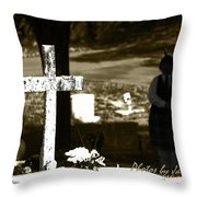 Tones Of The Dead Throw Pillow
