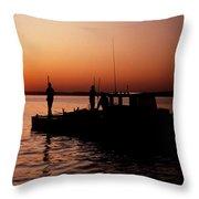 Tonger's Sunrise Throw Pillow by Skip Willits