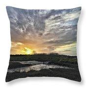Tonight's Sunset From Thornham Throw Pillow