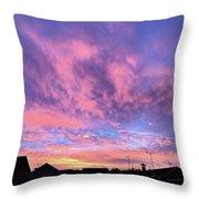 Tonight's Sunset Over Tesco :) #view Throw Pillow
