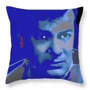 Tony Curtis Circa 1960 Color Added 2012 Throw Pillow