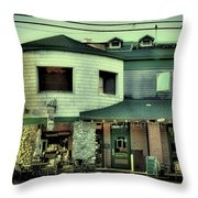 Tony Harpers - Vintage Postcard Throw Pillow