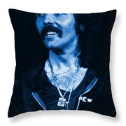 Blue Fluff Throw Pillow