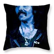 Cosmic Blue Fluff Throw Pillow
