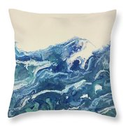 Too Blue Throw Pillow