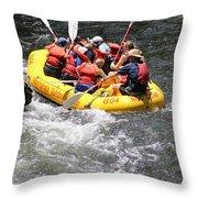 Too Close Rafting Throw Pillow