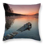 Too Early For Fishing Throw Pillow