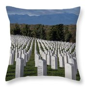 Too Many.. Veteran Cemetery, Santa Fe Throw Pillow