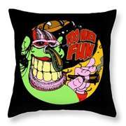 Too Much Fun Ozone Guy Throw Pillow