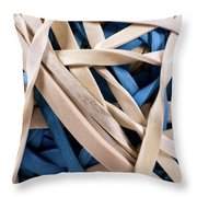 Too Much Time And Elastic Throw Pillow