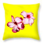 Too Pink Throw Pillow