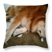Too Tired For Treats Throw Pillow