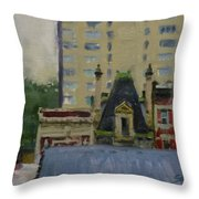 Too Wet To Paint Outdoors  Throw Pillow