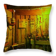 Tool Shed Throw Pillow