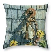 Tool Shed Treasures Throw Pillow