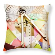 Tools Of Architectural Design Throw Pillow