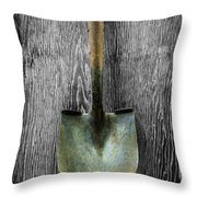 Tools On Wood 15 On Bw Throw Pillow